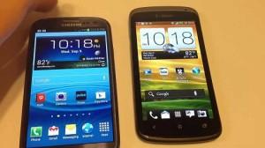 Samsung Galaxy S3 vs HTC One X